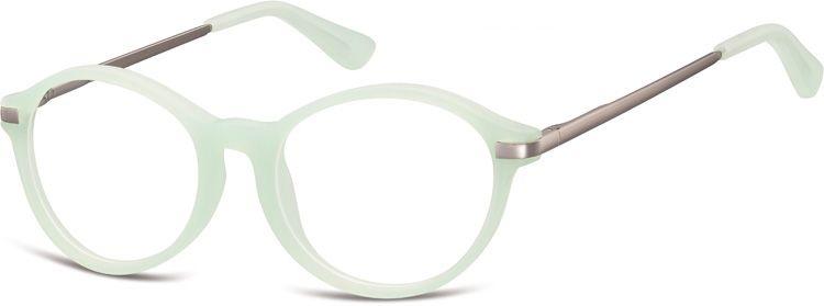 Okulary dziecięce zerówki okrągłe lenonki AK50F zielone