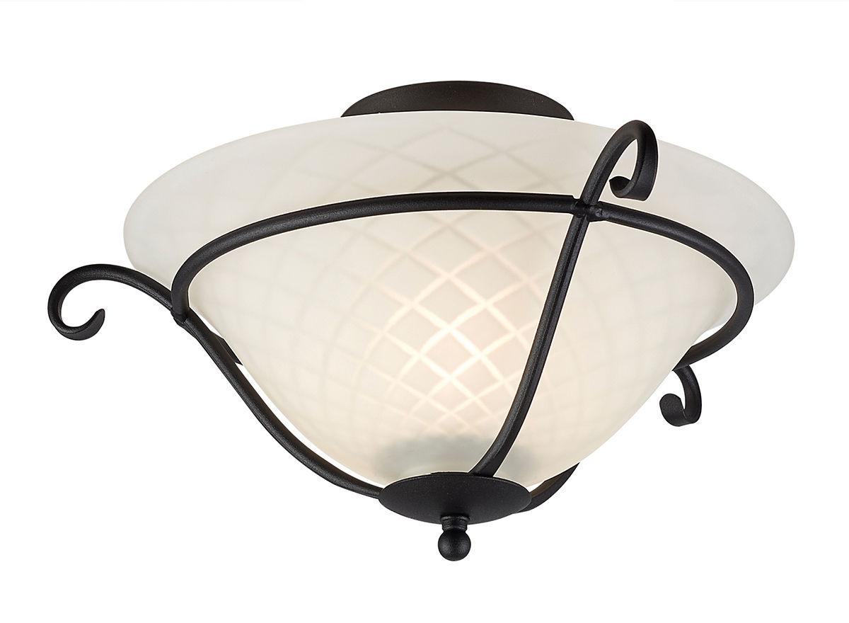 Plafon Torchiere TCH/F BLK Elstead Lighting klasyczna oprawa w kolorze czarno-białym