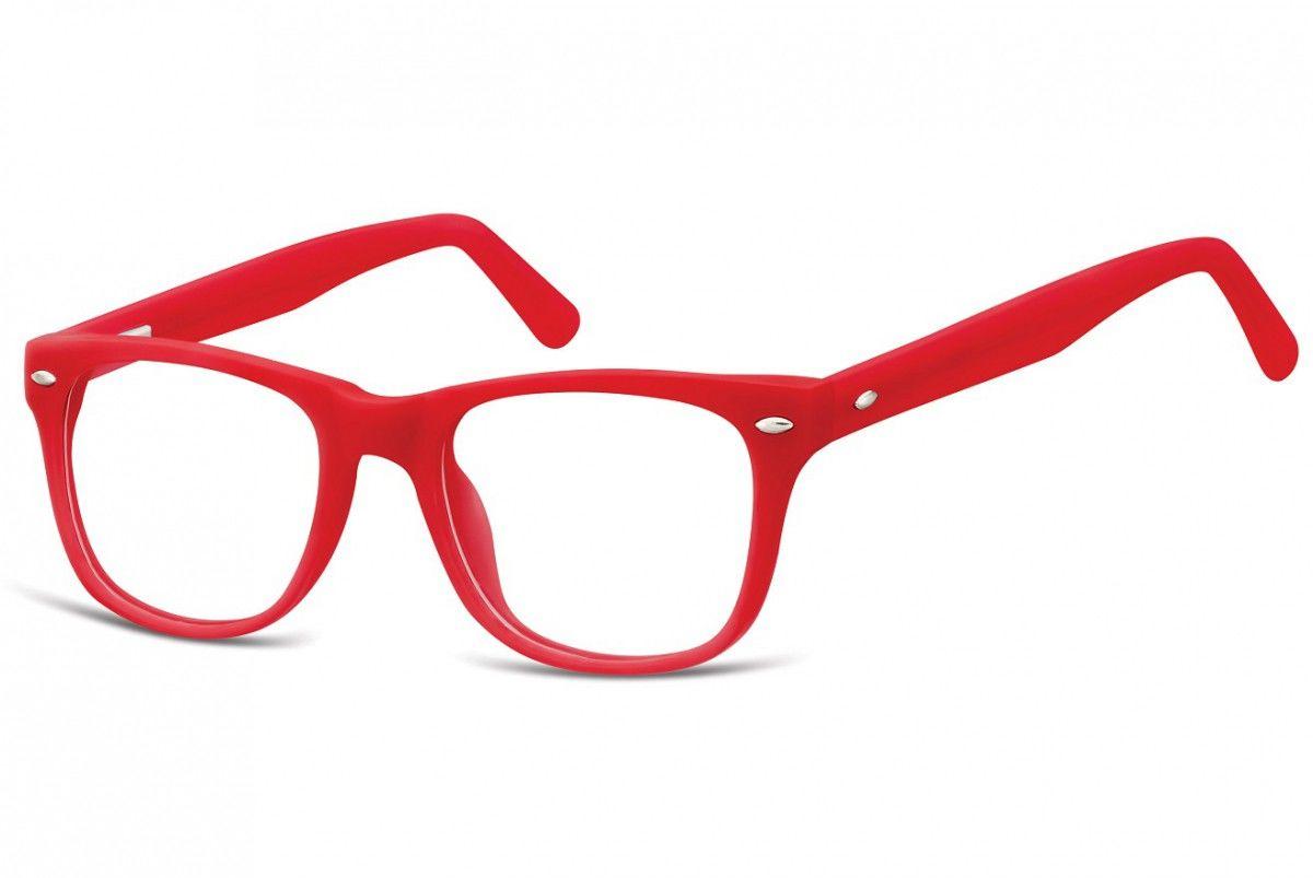 Okulary dziecięce zerówki Nerdy AK48 czerwone