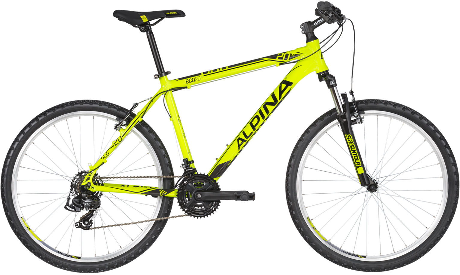 Rower Alpina ECO M20 NEON LIME