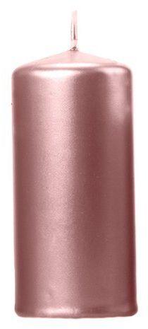 Świeca klubowa walec rose gold 12cm metaliczna 1szt SKKMET-019R