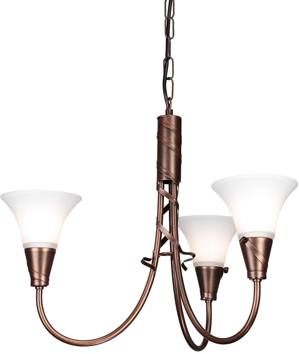 Lampa wisząca Emily EM3 CP Elstead Lighting klasyczna oprawa w kolorze miedzianej patyny