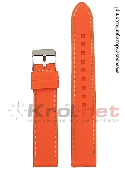 Pasek SBR10/12/20 - pomarańczowy, silikonowy