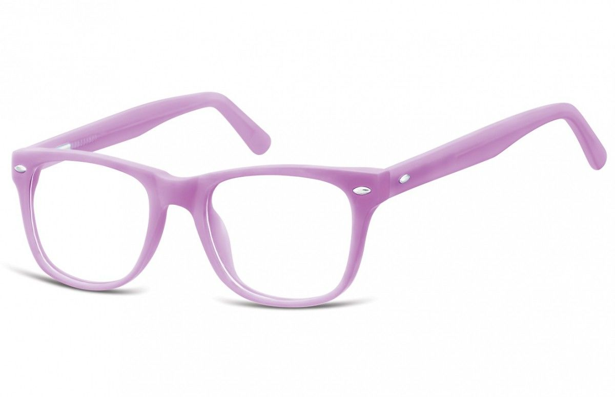Okulary dziecięce zerówki Nerdy AK48C różowe