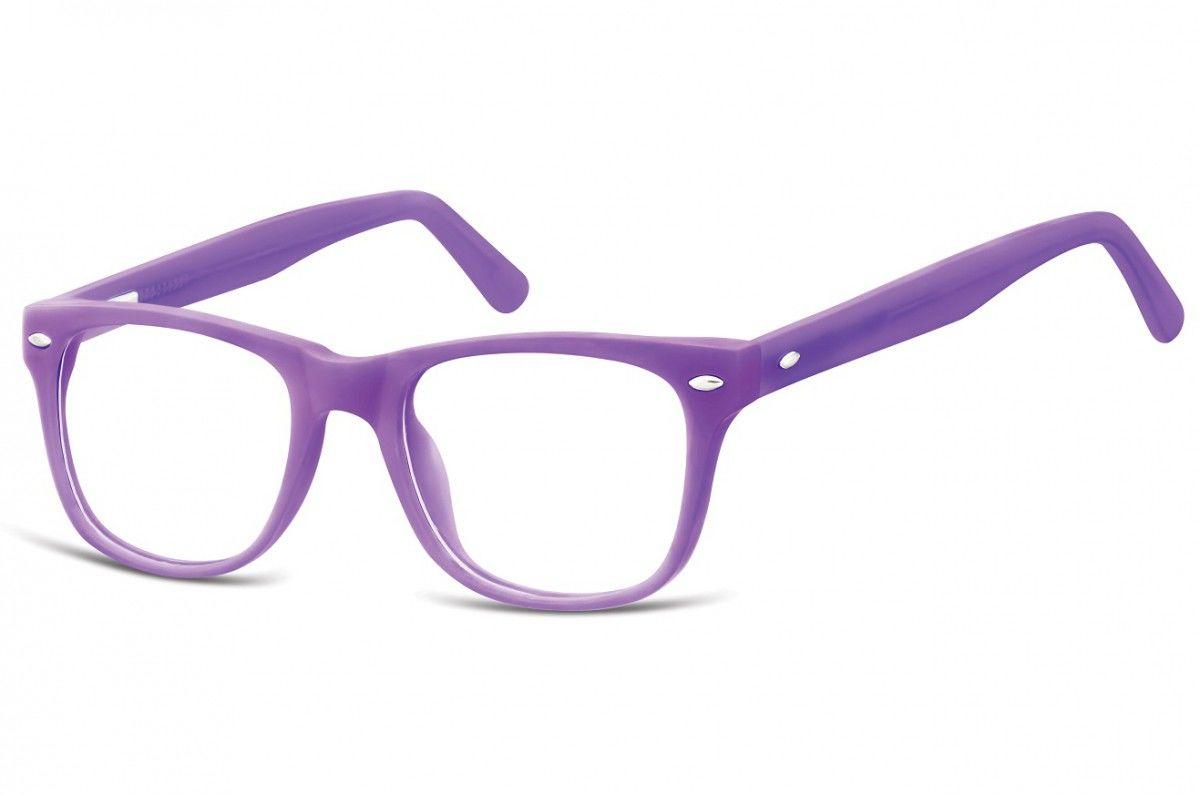 Okulary dziecięce zerówki Nerdy AK48D fioletowe