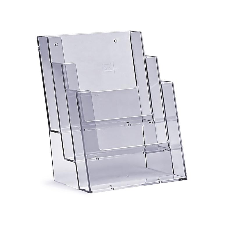 Stojak na ulotki 3 x A5 plexi odlewany 3C160