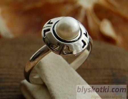 Doria - srebrny pierścionek z perłą