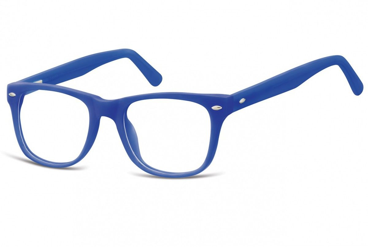 Okulary dziecięce zerówki Nerdy AK48E niebieskie