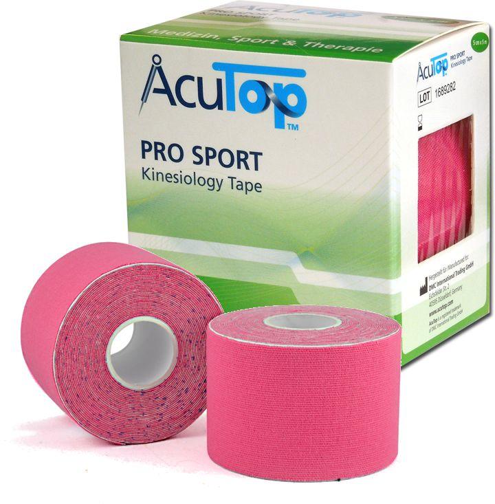 AcuTop PRO SPORT - Wzmocnione Kinesiology tape - różowe (ATPS pink)