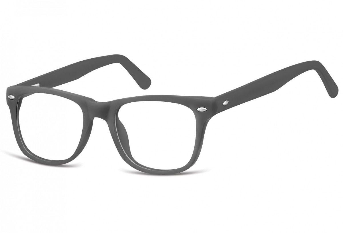 Okulary dziecięce zerówki Nerdy AK48F szare