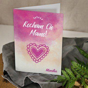 Kocham Cię mamo - kartka z życzeniami