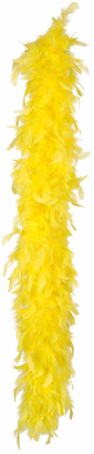Boland 52618 Boa z piórami, akcesoria, żółty, szal, lata 20-te, The Great Gatsby, impreza tematyczna, karnawał