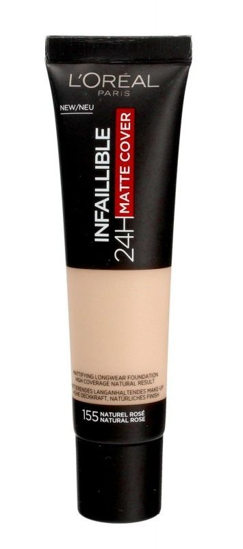 LOréal Paris Infallible 24H Matte Cover podkład o długotrwałym działaniu odcień 155 Natural Rose 35 ml
