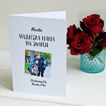 Najlepsza mama na świecie - kartka z życzeniami