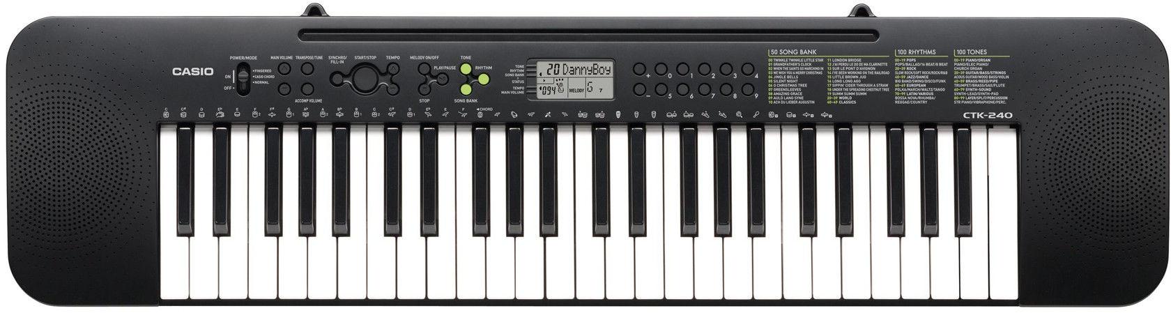 Casio CTK-240 - keyboard + zasilacz - Raty 30x0%!