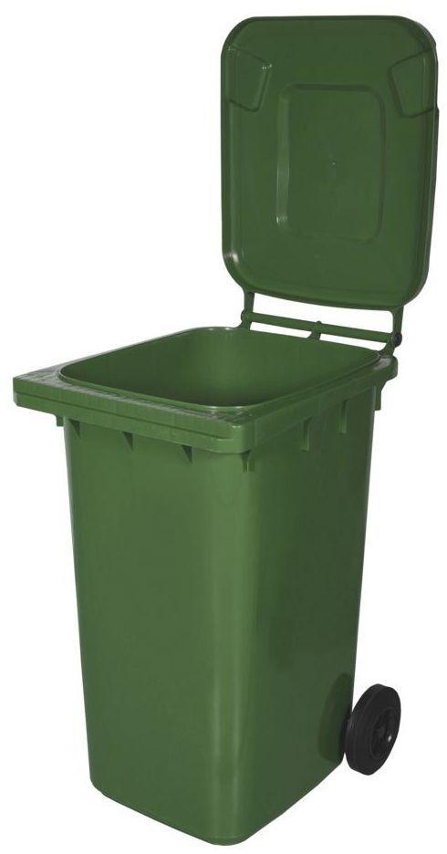 Kosz na śmieci 240 l zielony na odpady szklane