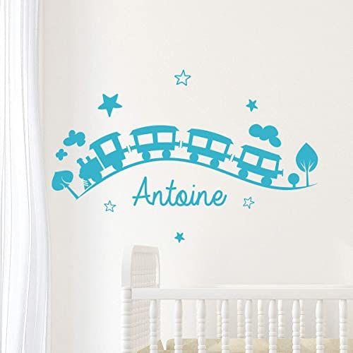 Spersonalizowana naklejka z imieniem, samoprzylepna, możliwość personalizacji, do pokoju dziecięcego, 2 arkusze o wymiarach 20 x 30 cm i 40 x 30 cm, błękitna