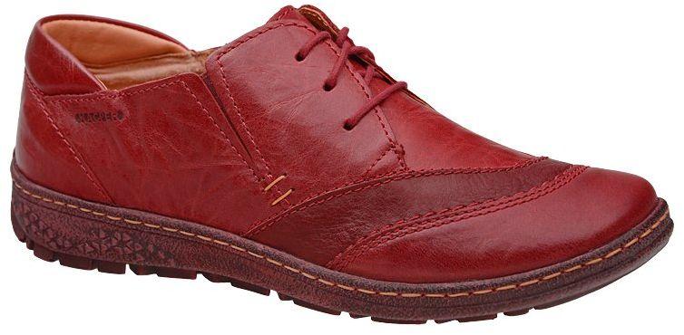 Półbuty KACPER 2-5207-729+400 Czerwone damskie