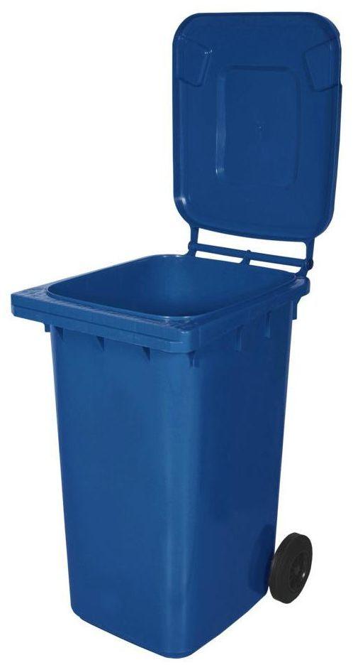 Kosz na śmieci 240 l niebieski na odpady papierowe