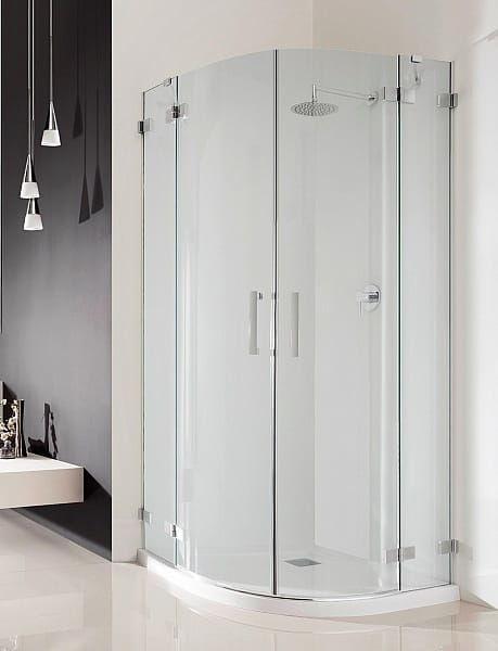 Kabina prysznicowa półokrągła Radaway Euphoria PDD 90x80 szkło przejrzyste wys. 200 cm. 383001-01L/383002-01R