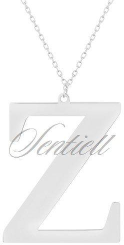 Srebrny naszyjnik pr.925 literka z