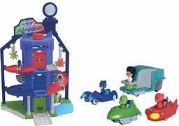 Dickie PJ Masks 203145002 Piżamaski garażowe i 4 pojazdy dla dzieci w wieku 3 lat i powyżej