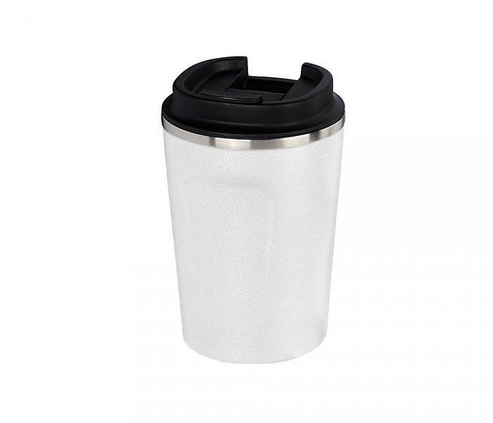 Kubek termiczny COPPER MINI 380 ml z miedzianą izolacją (biały)