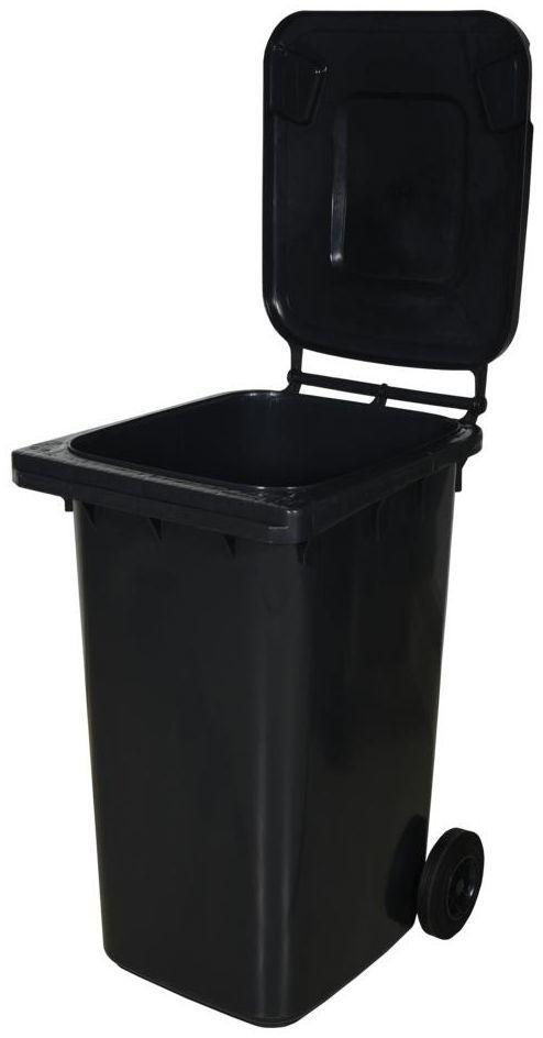 Kosz na śmieci 240 l szary na odpady zmieszane