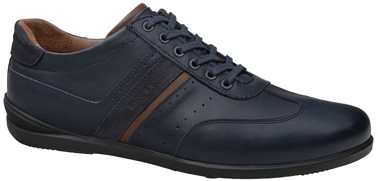 Półbuty męskie BADURA 3703-697 Granatowe James Sneakersy