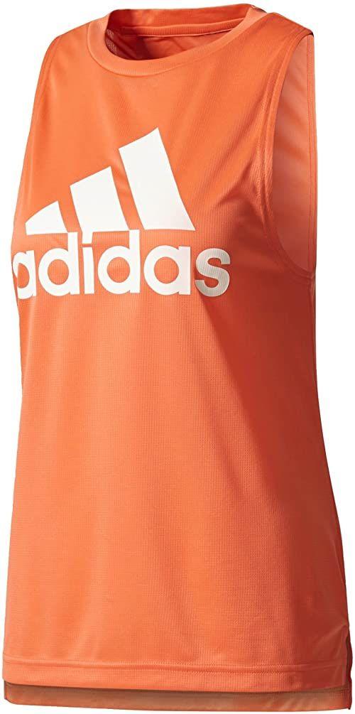 adidas Damski top bokserski z logo Tanktop pomarańczowa Eascor XXL