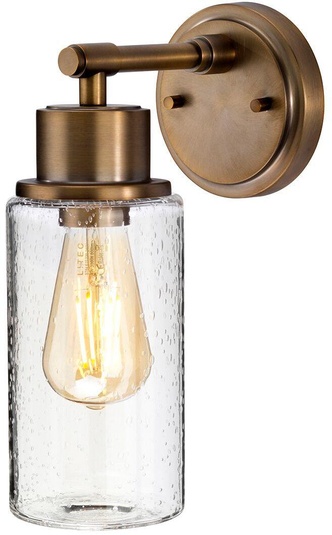 Kinkiet łazienkowy Morvah BB Elstead Lighting nowoczesna oprawa w kolorze szczotkowanego mosiądzu
