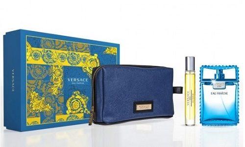 Versace Man Eau Fraiche miniaturka 10ml + kosmetyczka + woda toaletowa - 100ml