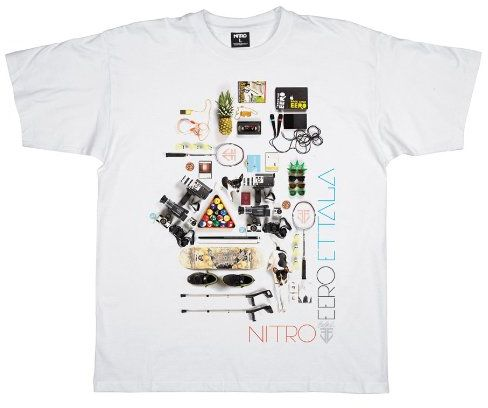 Nitro męski T-shirt EERO, biały, S, 1121-872921_173