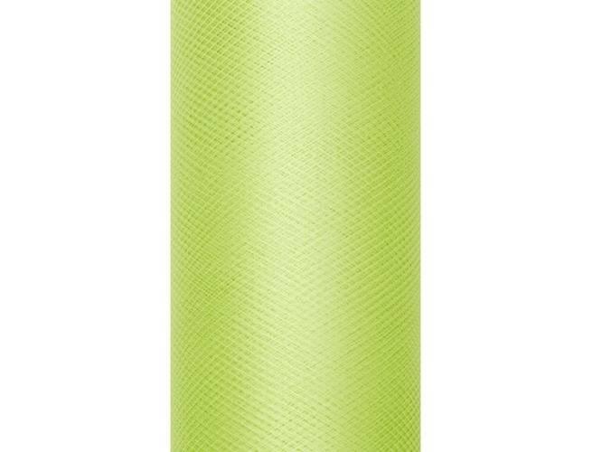 Tiul gładki jasnozielony - 30 cm x 9 metrów - 1 szt.