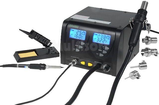 Stacja na gorące powietrze cyfrowa ESD 160 480 C 3 24l/min