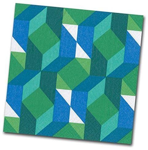 Entertaining with Caspari Color Theory koktajlowa serwetka, 20 sztuk, zielona, 12,7 x 12,7 x 3 cm