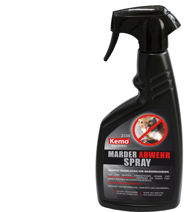 Odstraszacz kun w sprayu KEMO Z100. Preparat na kuny do samochodu.
