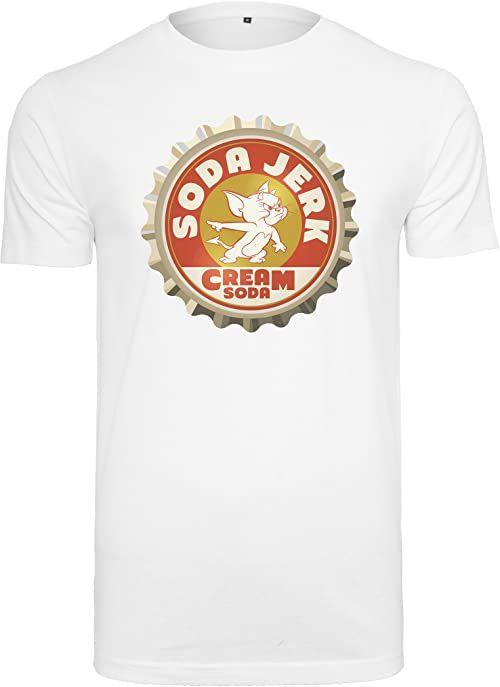 MERCHCODE Męski T-shirt Tom i Jerry Soda Tee biały biały XL
