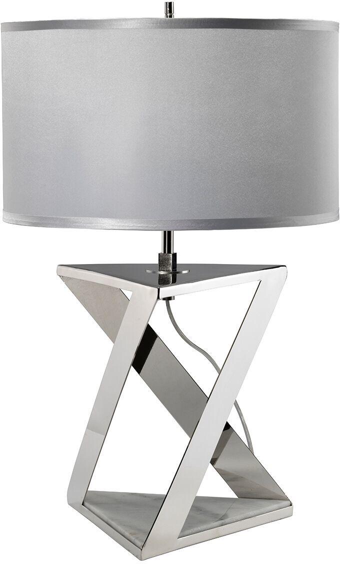 Lampa stołowa Aegeus Elstead Lighting nowoczesna oprawa w kolorze srebrnym