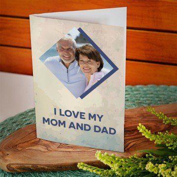I love mom&dad - kartka z życzeniami