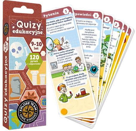 Xplore Team Quizy dla dzieci 9-10 lat ZAKŁADKA DO KSIĄŻEK GRATIS DO KAŻDEGO ZAMÓWIENIA