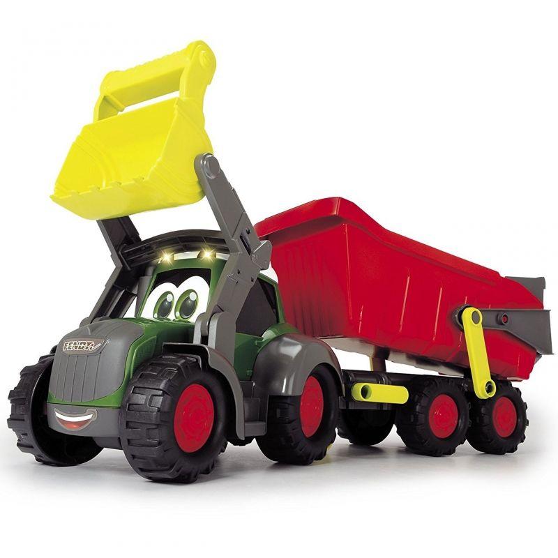 DICKIE Happy Traktor z przyczepką Fendt Światło Dźwięk LK