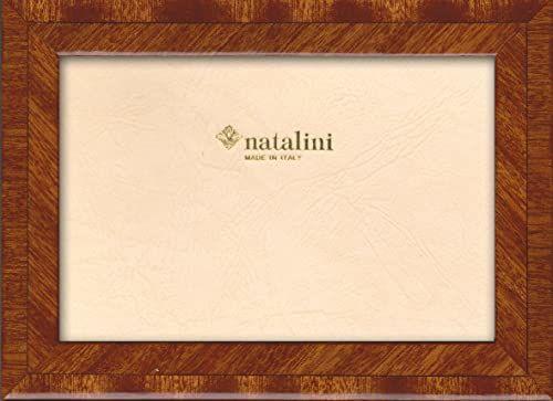 Natalini Marquetry ramka na zdjęcia wyprodukowana we Włoszech, tulipan, mahoń, 12,5 cm x 18,5 cm