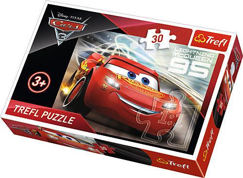 Puzzle 30 Elementów Auta 3 Zygzak McQueen dla Dzieci TREFL