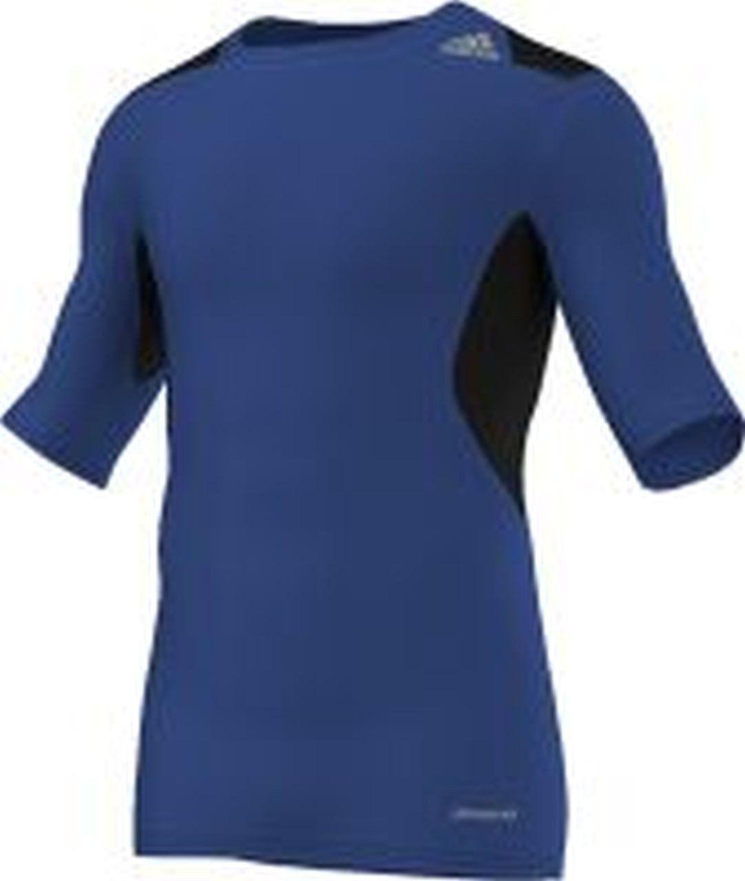 Adidas Techfit Power męska koszulka funkcyjna z krótkim rękawem, niebieski/czarny, S
