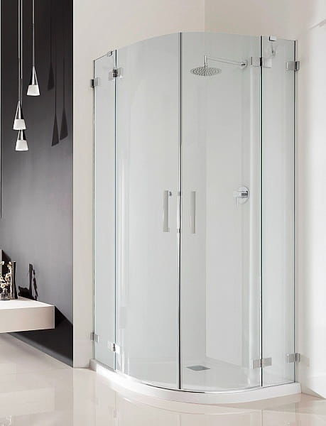 Kabina prysznicowa półokrągła Radaway Euphoria PDD 100x80 szkło przejrzyste wys. 200 cm. 383003-01L/383002-01R