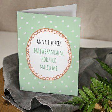 Najwspanialsi rodzice - kartka z życzeniami