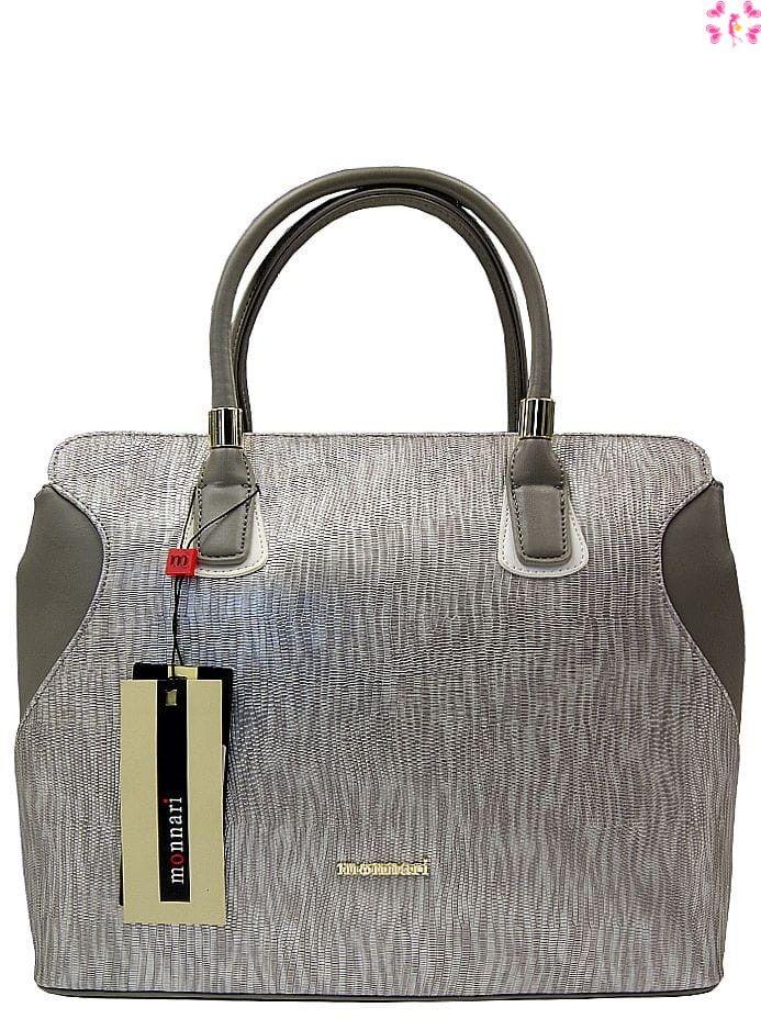 Klasyczna torebka damska Monnari srebrna