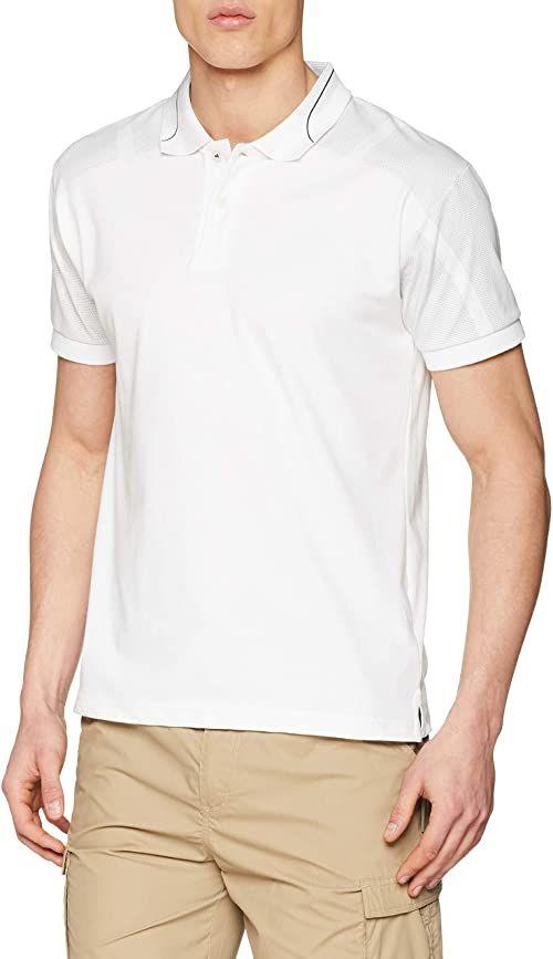 Schwarzwolf męska koszulka polo Maladeta biały biały 3XL