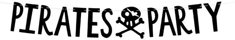 Baner urodzinowy Piraci - Pirates Party 100cm 1szt. GRL86-010